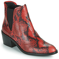 Shoes Women Mid boots Fericelli  Black / Red