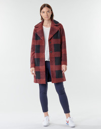 material Women coats Only ONLVICKI Red / Black