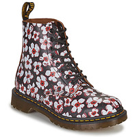 Shoes Women Mid boots Dr Martens 1460 PASCAL Black / White / Red