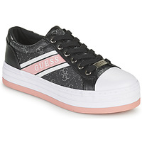 Shoes Women Low top trainers Guess BARONA Black / Pink