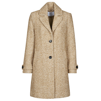 material Women coats Only ONLPENNY Camel / White