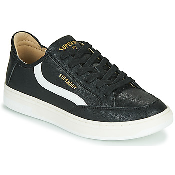 Shoes Men Low top trainers Superdry BASKET LUX LOW TRAINER Black