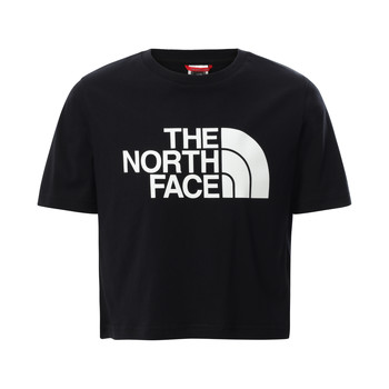material Girl short-sleeved t-shirts The North Face EASY CROPPED TEE Black