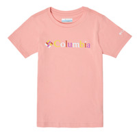 material Girl short-sleeved t-shirts Columbia SWEET PINES GRAPHIC Pink
