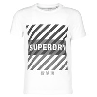 material Men short-sleeved t-shirts Superdry TRAINING CORESPORT GRAPHIC TEE White