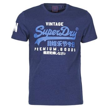 material Men short-sleeved t-shirts Superdry VL NS TEE Blue