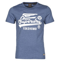 material Men short-sleeved t-shirts Superdry MILITARY GRAPHIC TEE 185 Blue
