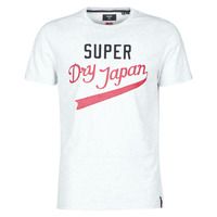 material Men short-sleeved t-shirts Superdry COLLEGIATE GRAPHIC TEE 185 Grey