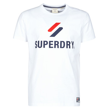 material Men short-sleeved t-shirts Superdry SPORTSTYLE CLASSIC TEE Optic