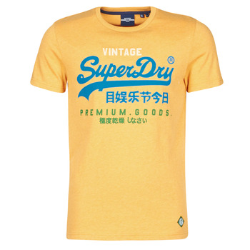 material Men short-sleeved t-shirts Superdry VL TRI TEE 220 Yellow