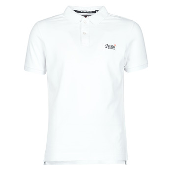 material Men short-sleeved t-shirts Superdry CLASSIC PIQUE S/S POLO White