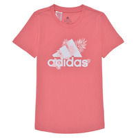 material Girl short-sleeved t-shirts adidas Performance TROPICAL BOS G Pink