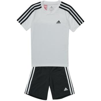 material Boy Tracksuits adidas Performance B 3S T SET White / Black