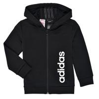 material Boy sweaters adidas Performance YB TR 3S FZ Black