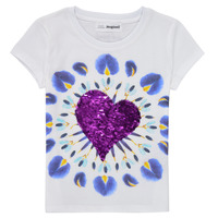 material Girl short-sleeved t-shirts Desigual 21SGTK45-1000 White