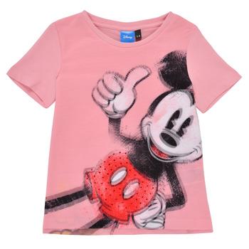 material Girl short-sleeved t-shirts Desigual 21SGTK43-3013 Pink