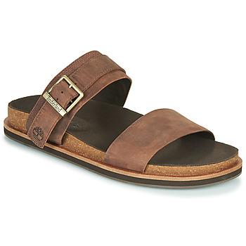 Shoes Men Mules Timberland AMALFI VIBES 2BAND SANDAL Brown