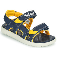 Shoes Children Sandals Timberland PERKINS ROW 2-STRAP Blue / Yellow