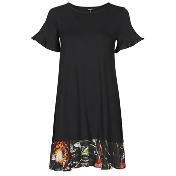material Women Short Dresses Desigual KALI Black