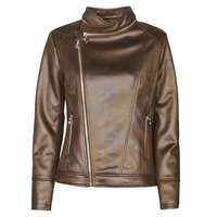 material Women Leather jackets / Imitation le Desigual CARNABY STREET Brown