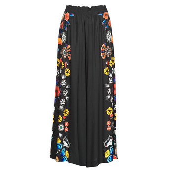 material Women Wide leg / Harem trousers Desigual CHIPRE Black