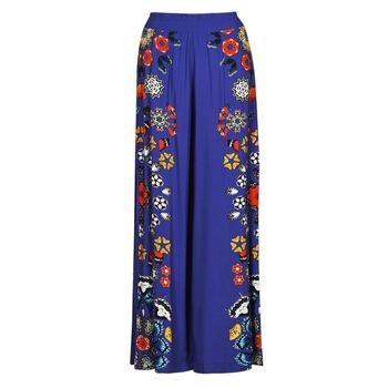 material Women Wide leg / Harem trousers Desigual CHIPRE Blue