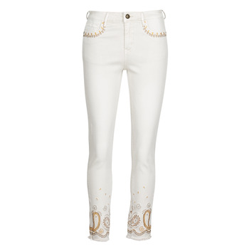 material Women slim jeans Desigual PAISLEY White