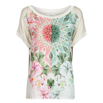 material Women short-sleeved t-shirts Desigual COPENHAGUE White
