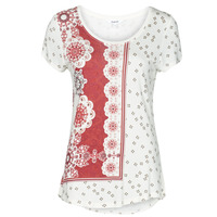 material Women short-sleeved t-shirts Desigual ESTAMBUL White