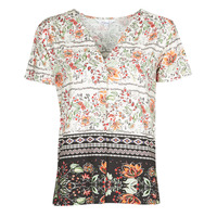 material Women short-sleeved t-shirts Desigual CRACOVIA Multicolour