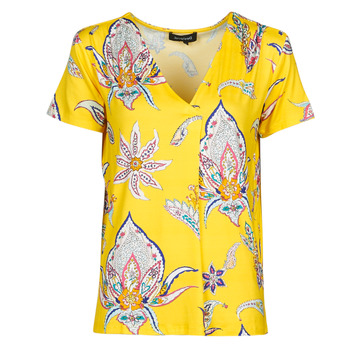 material Women short-sleeved t-shirts Desigual LEMARK Yellow