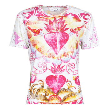 material Women short-sleeved t-shirts Desigual TATTOO Multicolour
