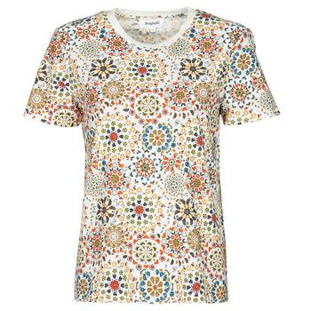material Women short-sleeved t-shirts Desigual LYON White