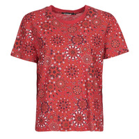 material Women short-sleeved t-shirts Desigual LYON Red