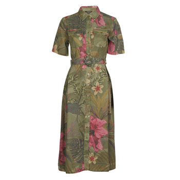 material Women Long Dresses Desigual ANGELA Kaki