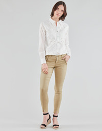 material Women 5-pocket trousers Cream HOLLY TWILL PANT Beige