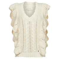 material Women jumpers Cream ANNOLINA KNIT SLOPOVER White