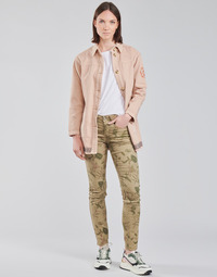 material Women 5-pocket trousers Cream LOTTE PRINTED Multicoloured