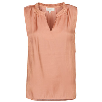 material Women Blouses Cream CECILIE TOP Pink