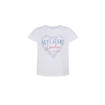 material Girl short-sleeved t-shirts Pepe jeans PIPER White