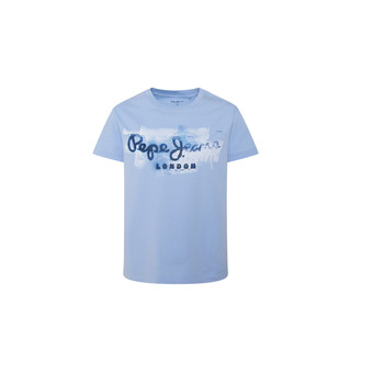 material Boy short-sleeved t-shirts Pepe jeans GOLDERS Blue