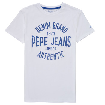 material Boy short-sleeved t-shirts Pepe jeans JACK White