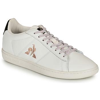 Shoes Women Low top trainers Le Coq Sportif COURTSET White / Black