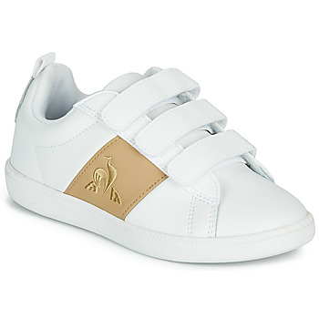 Shoes Children Low top trainers Le Coq Sportif COURTCLASSIC PS White / Brown