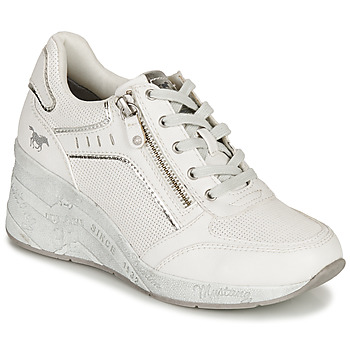 Shoes Women Low top trainers Mustang NULUK Beige