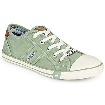 Shoes Women Low top trainers Mustang NATHALIA Green / Clear