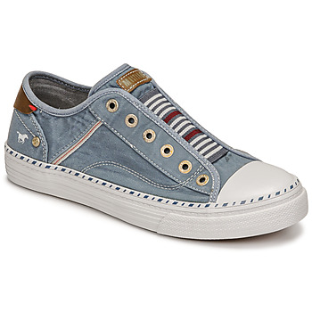 Shoes Women Low top trainers Mustang VIOLANTA Blue