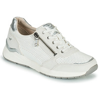 Shoes Women Low top trainers Mustang ANINTA White / Silver