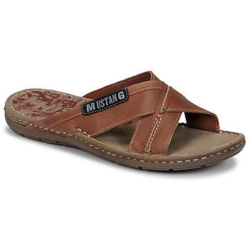 Shoes Men Mules Mustang THEROMA Brown
