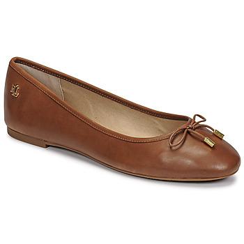 Shoes Women Ballerinas Lauren Ralph Lauren JAYNA Cognac